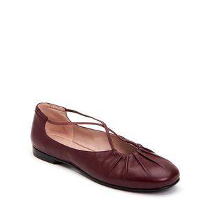 Taryn Rose Alessandra Chianti leather ballet flats